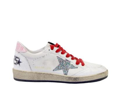 GOLDEN GOOSE DONNA Sneakers SNEAKERS BALLSTAR BIANCO ROSA 36, 38-2, 39-2 immagine n. 1/4