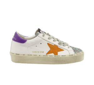 GOLDEN GOOSE DONNA Donna SNEAKERS HI STAR BIANCO GLITTER 36, 40, 37-2, 39-2 immagine n. 1/4