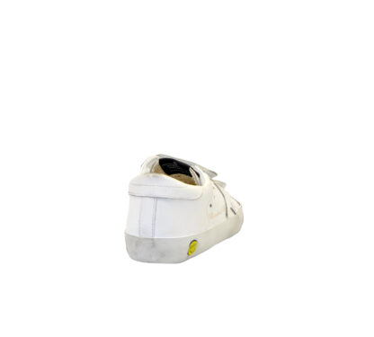 GOLDEN GOOSE UNISEX Bambino SNEAKERS OLD SCHOOL BIANCO STRAPPO 28, 29, 30, 31, 32, 34-2 immagine n. 4/4