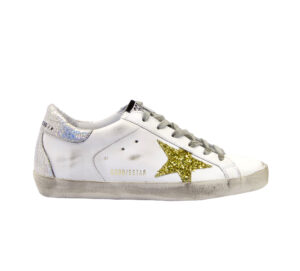 GOLDEN GOOSE DONNA Donna SNEAKERS SUPERSTAR BIANCO ARGENTO ORO 35, 36, 40, 41-2 immagine n. 1/4