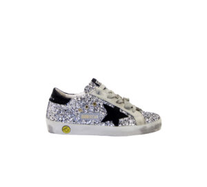 GOLDEN GOOSE UNISEX Sneakers SNEAKERS SUPERSTAR ARGENTO 28, 29, 30, 31, 32, 33, 34-2, 35 immagine n. 1/4