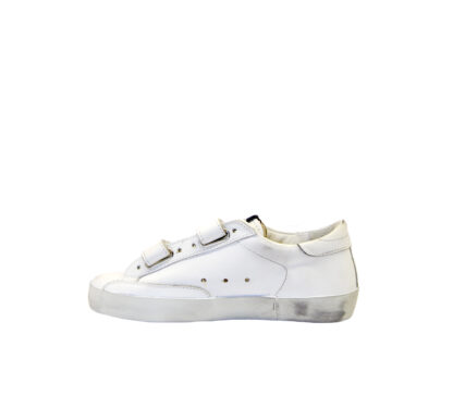 GOLDEN GOOSE UNISEX Bambino SNEAKERS OLD SCHOOL BIANCO STRAPPO 28, 29, 30, 31, 32, 34-2 immagine n. 3/4