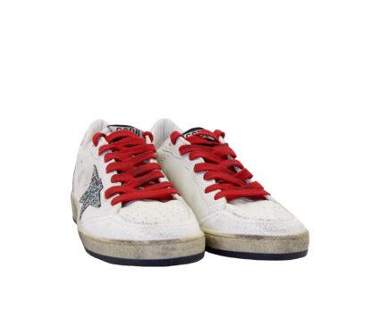GOLDEN GOOSE DONNA Sneakers SNEAKERS BALLSTAR BIANCO ROSA 36, 38-2, 39-2 immagine n. 2/4