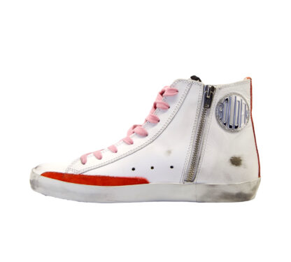 GOLDEN GOOSE DONNA Donna SNEAKERS FRANCY BIANCO 35, 36, 40, 37-2, 41-2 immagine n. 3/4