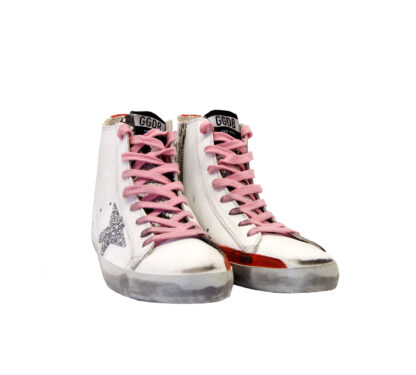 GOLDEN GOOSE DONNA Sneakers SNEAKERS FRANCY BIANCO 35, 36, 40, 37-2, 41-2 immagine n. 2/4
