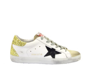 GOLDEN GOOSE DONNA Donna SNEAKERS SUPERSTAR BIANCO ORO 35, 36, 37-2, 38-2, 39-2, 40, 41-2 immagine n. 1/4