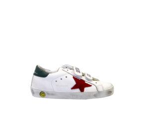 GOLDEN GOOSE UNISEX Sneakers SNEAKERS OLS SCHOOL BIANCO 27 immagine n. 1/4