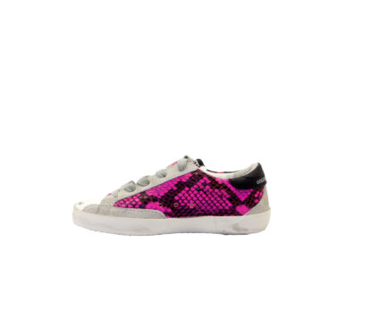 GOLDEN GOOSE UNISEX Bambino SNEAKERS SUPERSTAR FUXIA PITONE 28, 29, 30, 31, 32, 33, 34-2, 35 immagine n. 3/4
