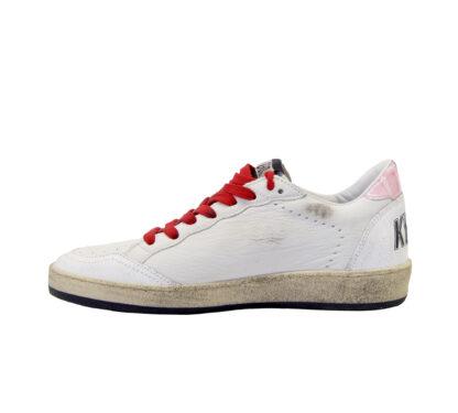 GOLDEN GOOSE DONNA Sneakers SNEAKERS BALLSTAR BIANCO ROSA 36, 38-2, 39-2 immagine n. 3/4