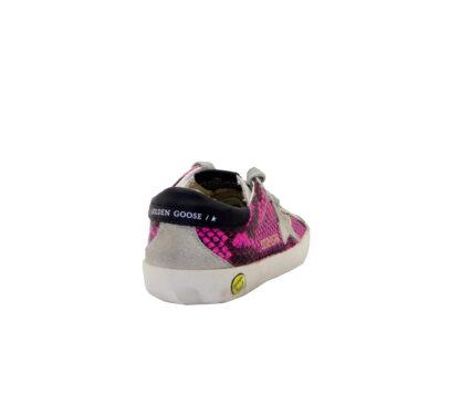 GOLDEN GOOSE UNISEX Bambino SNEAKERS SUPERSTAR FUXIA PITONE 28, 29, 30, 31, 32, 33, 34-2, 35 immagine n. 4/4