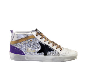 GOLDEN GOOSE DONNA Donna SNEAKERS MID STAR GLITTER ARGENTO 35, 36, 40, 41-2 immagine n. 1/4