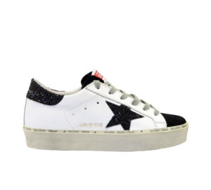 GOLDEN GOOSE DONNA Donna SNEAKERS HI STAR BIANCO NERO 35, 36, 40, 37-2, 38-2, 39-2 immagine n. 1/4