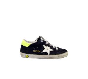GOLDEN GOOSE UNISEX Sneakers SNEAKERS SUPERSTAR SUEDE BLU 24, 25, 26, 27 immagine n. 1/4