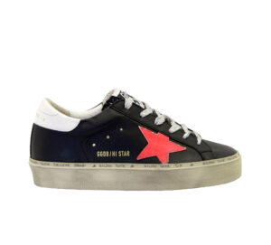 GOLDEN GOOSE DONNA Donna SNEAKERS HI STAR NERO PINK 35, 36, 37-2, 38-2, 39-2, 41-2 immagine n. 1/4