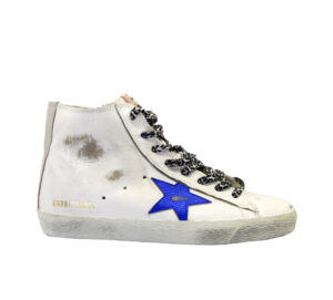 GOLDEN GOOSE DONNA Donna SNEAKERS FRANCY BIANCO BLU 35, 36, 37-2, 38-2, 39-2, 40, 41-2 immagine n. 1/4