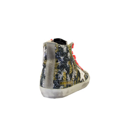 GOLDEN GOOSE DONNA Donna SNEAKERS FRANCY GLITTER CAMOUFLAGE 36, 37-2, 38-2, 39-2, 40, 41-2 immagine n. 4/4