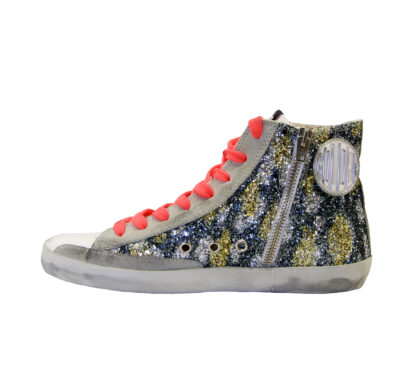 GOLDEN GOOSE DONNA Donna SNEAKERS FRANCY GLITTER CAMOUFLAGE 36, 37-2, 38-2, 39-2, 40, 41-2 immagine n. 3/4