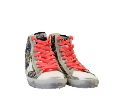 GOLDEN GOOSE DONNA Donna SNEAKERS FRANCY GLITTER CAMOUFLAGE 36, 37-2, 38-2, 39-2, 40, 41-2 immagine n. 2/4