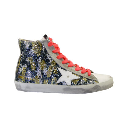 GOLDEN GOOSE DONNA Donna SNEAKERS FRANCY GLITTER CAMOUFLAGE 36, 37-2, 38-2, 39-2, 40, 41-2 immagine n. 1/4