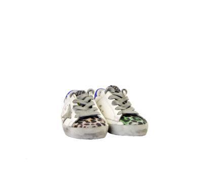 GOLDEN GOOSE UNISEX Sneakers SNEAKERS SUPERSTAR BIANCO ANIMALIER 24, 25, 26, 27 immagine n. 2/4