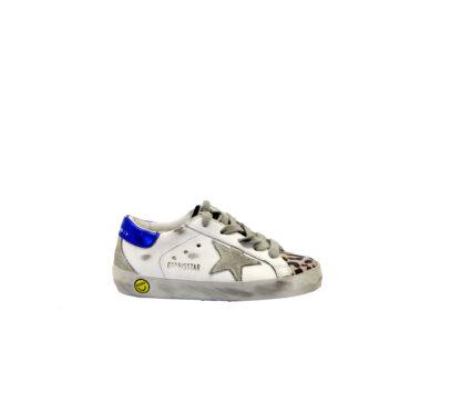 GOLDEN GOOSE UNISEX Sneakers SNEAKERS SUPERSTAR BIANCO ANIMALIER 24, 25, 26, 27 immagine n. 1/4