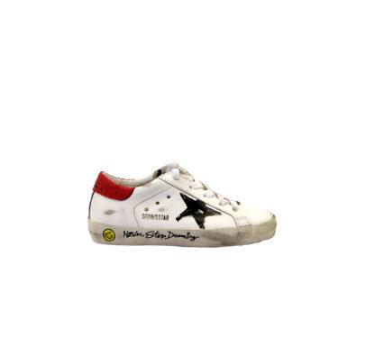 GOLDEN GOOSE UNISEX Sneakers SNEAKERS SUPERSTAR BIANCO SCRITTE 28, 29, 30, 31, 32, 33, 34-2, 35 immagine n. 1/4