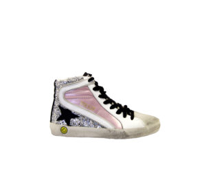 GOLDEN GOOSE UNISEX Bambino SNEAKERS SLIDE PINK SILVER 24, 25, 26, 27 immagine n. 1/4