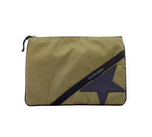 GOLDEN GOOSE UOMO BORSE JOURNEY POUCH LARGE MILITARY un immagine n. 1/4