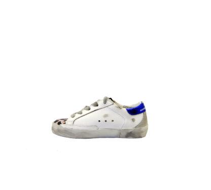 GOLDEN GOOSE UNISEX Sneakers SNEAKERS SUPERSTAR BIANCO ANIMALIER 24, 25, 26, 27 immagine n. 3/4