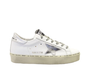 GOLDEN GOOSE DONNA Donna SNEAKERS HI STAR WHITE SILVER 36, 38-2, 39-2, 40, 41-2, 37-2 immagine n. 1/4