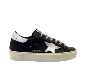 GOLDEN GOOSE DONNA Donna SNEAKERS HI STAR BLACK SILVER 36, 37-2, 38-2, 39-2, 40, 41-2 immagine n. 1/4