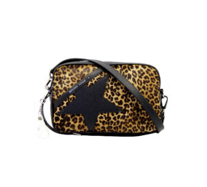 GOLDEN GOOSE DONNA BORSE STAR BAG PONY ANIMALIER BLACK BROWN un immagine n. 1/3