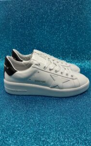 GOLDEN GOOSE DONNA Donna SNEAKERS PURE STAR BIANCO NERO 35, 36, 37-2, 38-2, 39-2, 40, 41-2 immagine n. 1/1