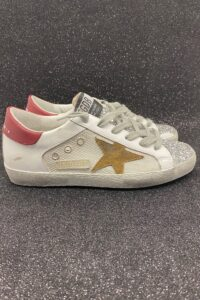GOLDEN GOOSE DONNA Donna SUPERSTAR RETE GLITTER 36, 37-2, 38-2, 39-2, 40, 41-2 immagine n. 1/1