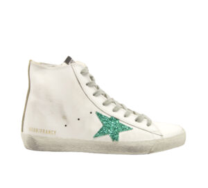 GOLDEN GOOSE DONNA Donna SNAEKERS FRANCY BIANCO ACQUAMARINA 35, 36, 37-2, 38-2, 39-2, 40, 41-2 immagine n. 1/4