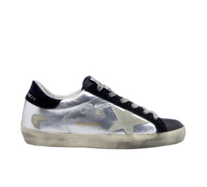 GOLDEN GOOSE DONNA Donna SNEKAERS SUPERSTAR ARGENTO NERO 36, 37-2, 38-2, 39-2, 40, 41-2 immagine n. 1/4