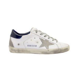 GOLDEN GOOSE DONNA Donna SNEAKERS SUPERSTAR BIANCO BLU 36, 39-2, 41-2 immagine n. 1/4