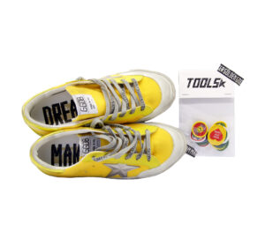 GOLDEN GOOSE DONNA Donna SNEAKERS SUPERSTAR PEN STAR GIALLO 36, 37-2, 38-2, 39-2, 40 immagine n. 1/4