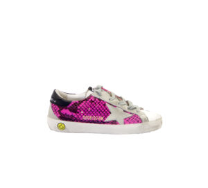 GOLDEN GOOSE UNISEX Bambino SNEAKERS SUPERSTAR FUXIA PITONE 29, 30, 31, 33, 34-2 immagine n. 1/4
