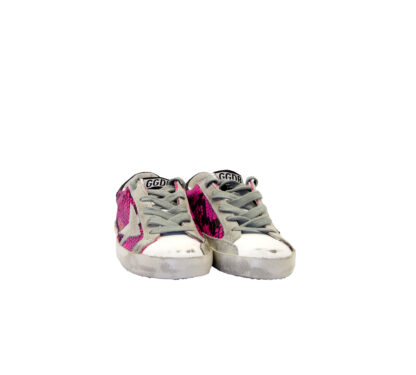 GOLDEN GOOSE UNISEX Bambino SNEAKERS SUPERSTAR FUXIA PITONE 29, 30, 31, 33, 34-2 immagine n. 2/4