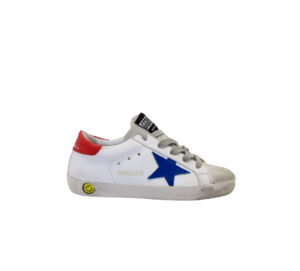 GOLDEN GOOSE UNISEX Bambino SNEAKERS BIANCO BLU ROSSO 29 immagine n. 1/4