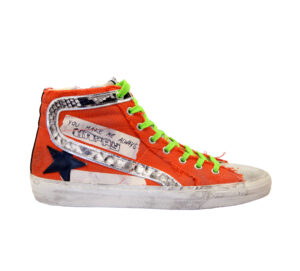 GOLDEN GOOSE UOMO CALZATURE SNEAKERS SLIDE CANVAS ORANGE 40, 41-2, 42, 43-2, 44-2 immagine n. 1/4