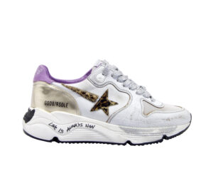 GOLDEN GOOSE DONNA Donna SNEAKERS RUNNING BIANCO ORO 36, 37-2, 38-2, 39-2, 40 immagine n. 1/4