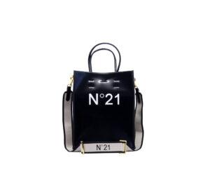 N° 21 DONNA Borsa SHOPPING SMALL BLACK un immagine n. 1/3