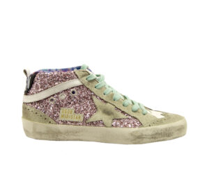 GOLDEN GOOSE DONNA Donna SNEAKERS MID STAR GLITTER ROSA 35, 36, 37-2, 38-2, 39-2, 40, 41-2 immagine n. 1/4