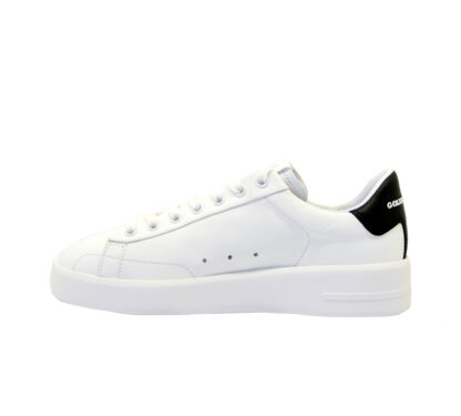GOLDEN GOOSE DONNA Donna SNEAKERS PURE STAR BIANCO NERO 36, 37-2, 38-2, 39-2, 40, 41-2 immagine n. 3/4