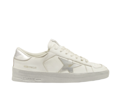 GOLDEN GOOSE DONNA Donna SNEAKERS STARDAN WHITE SILVER 36, 37-2, 38-2, 39-2, 40, 41-2 immagine n. 1/2