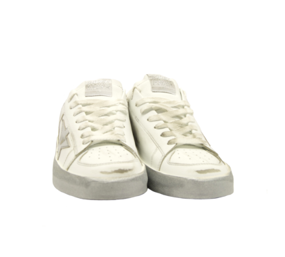 GOLDEN GOOSE DONNA Donna SNEAKERS STARDAN WHITE SILVER 36, 37-2, 38-2, 39-2, 40, 41-2 immagine n. 2/2